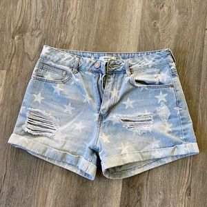 ‼️SALE‼️Forever 21 High Rise Denim Star Shorts
